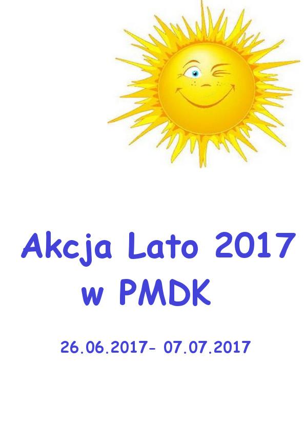 Plan zajęć – Akcja Lato 2017