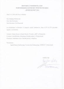 """Protokół jury z przesłuchania uczestników II kategorii konkursu """"MurMuRanDo"""""""