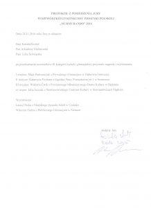 "Protokół z wynikami III kategorii konkursu ""MurMuRanDo"""