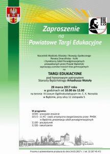 Informacja o Targach Edukacyjnych 28.03.2017